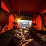 изглед от палатка за автомобил