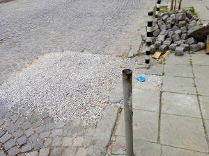 немарливост при ремонт на тротоар от рай комерс