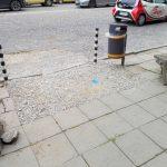 ремонт в действие на тротоар от рай комерс